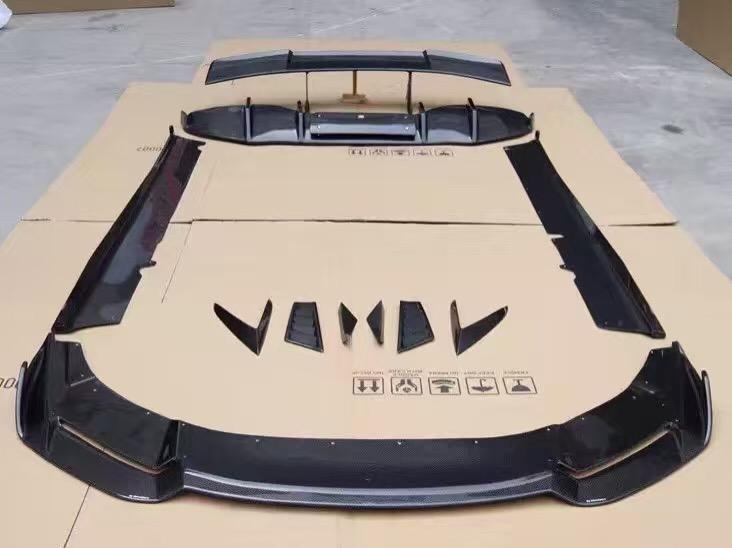 Lamborghini Huracan LP610-4 body kit front lip side skirts after lip