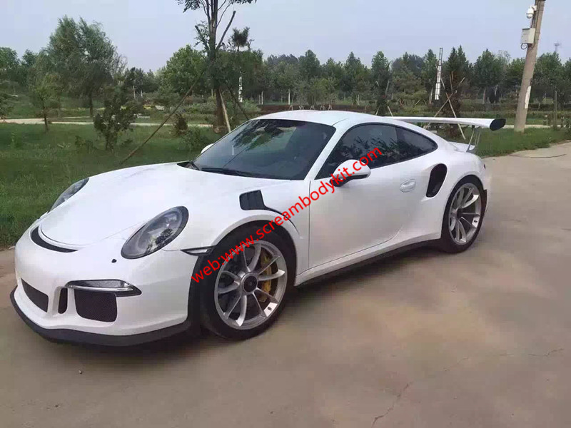 05-12 porsche 911 997 GT3 or GT3 RS body kit front bumper after bumper side skirts hood rear spoiler fenders