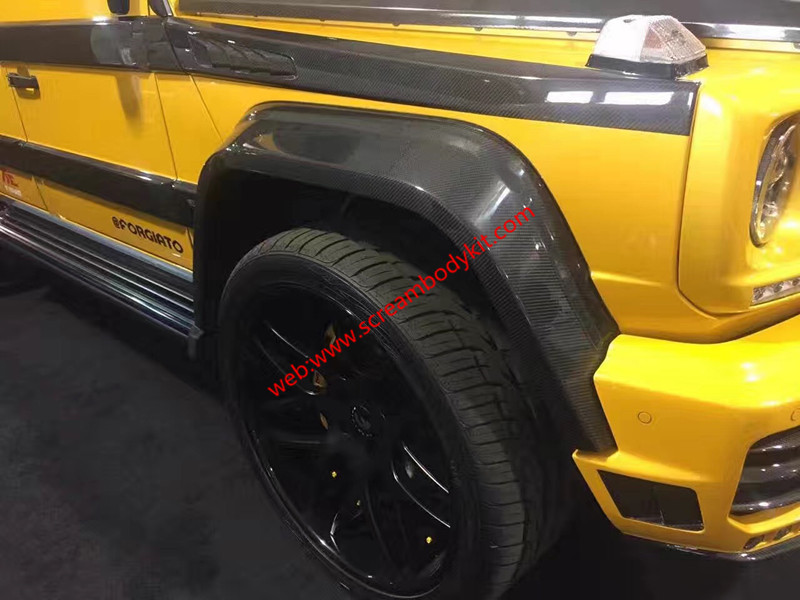 Benz G w463 mansory body kit front bumper after bumper hood spoiler side skirts fenders