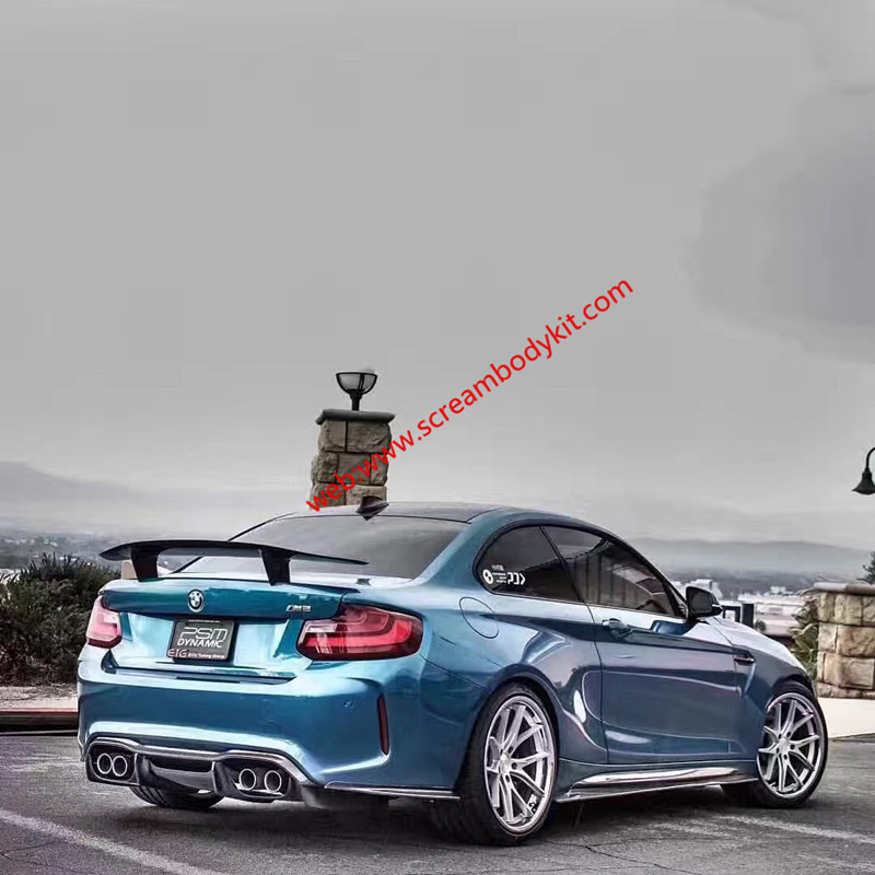 BMW M2F87 MTC body kit front lip after lip skirts wing carbon fiber