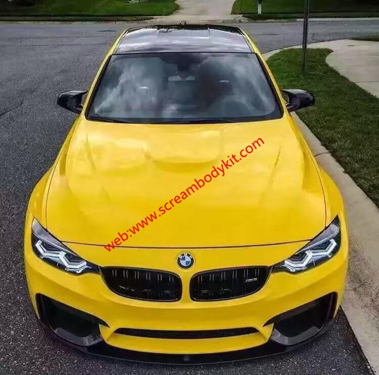 BMW M3 M4 body kit front lip after lip side skirts spoiler carbon fiber