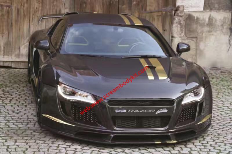 Audi R8 body kit front bumper after bumper wing hood fenders