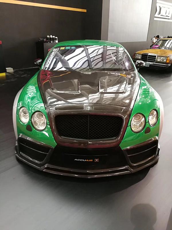 Bentley GT wide body kit front bumper after bumper side skirts fenders hood spoiler
