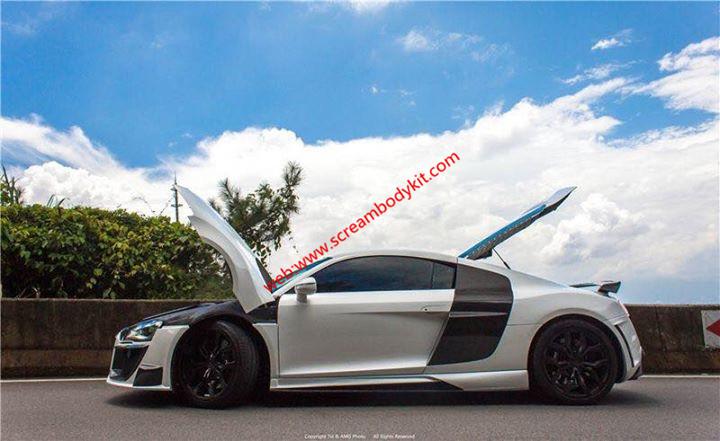 Audi R8 body kit front lip rear lip spoiler side skirts etc