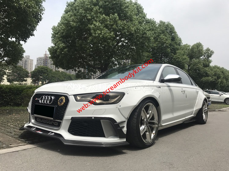 audi a6 rs6 update abt wide body kit front lip after lip. Black Bedroom Furniture Sets. Home Design Ideas