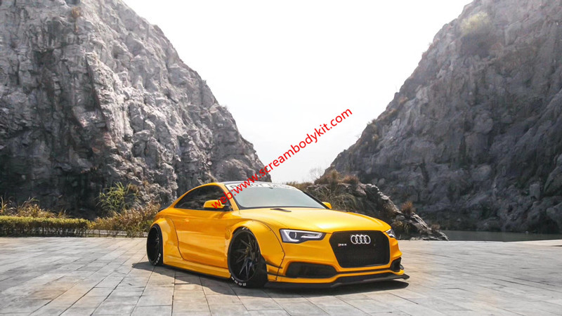 audi a5 s5 coupe modify lb wide body kit front bumper. Black Bedroom Furniture Sets. Home Design Ideas