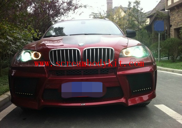 BMW X6 Lumma wide body kit front bumper after bumper side skirts fenders etc