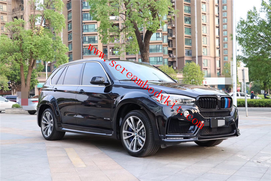BMW F15 X5 body kit front bumper rear bumper side skirts fenders and lighting