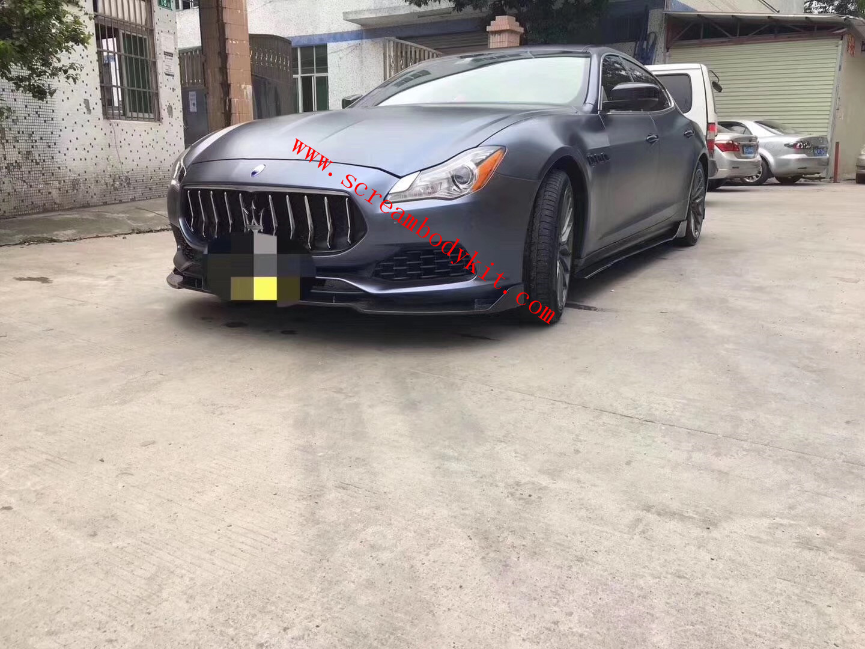 17-18 Maserati Quattroporte body kit front lip rear lip side skirts carbon fiber