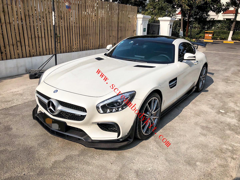 Mercedes-Benz GT/GTS AMG  front lip rear lip spoiler side skirts carbon fiber ver1.1