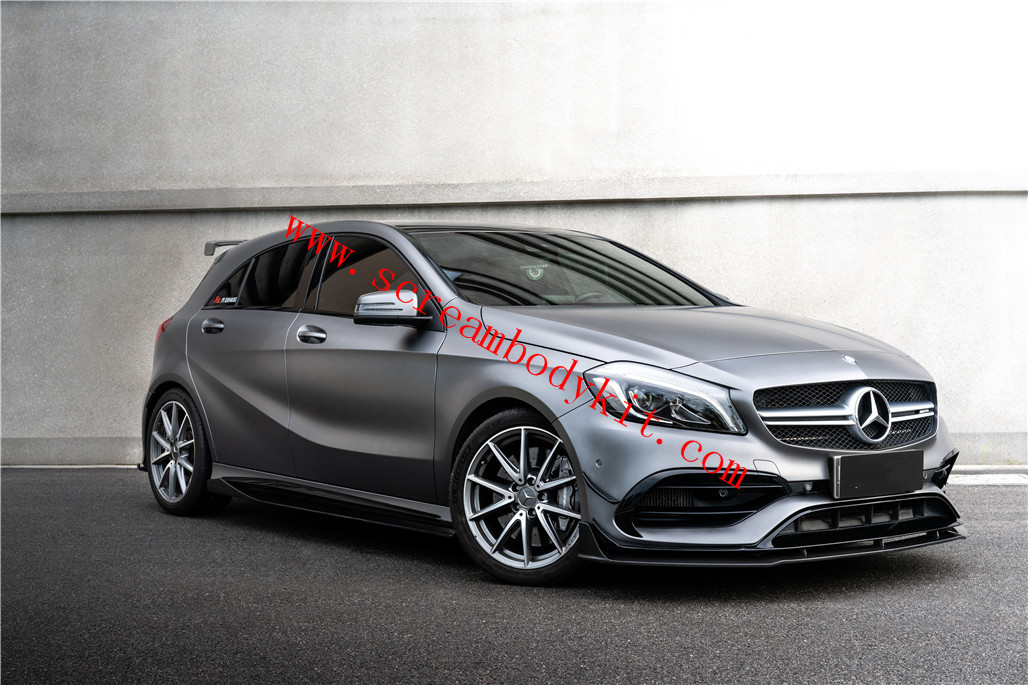 Mercedes-Benz A45 A200 A260 front lip rear lip side skirts spoiler carbon fiber