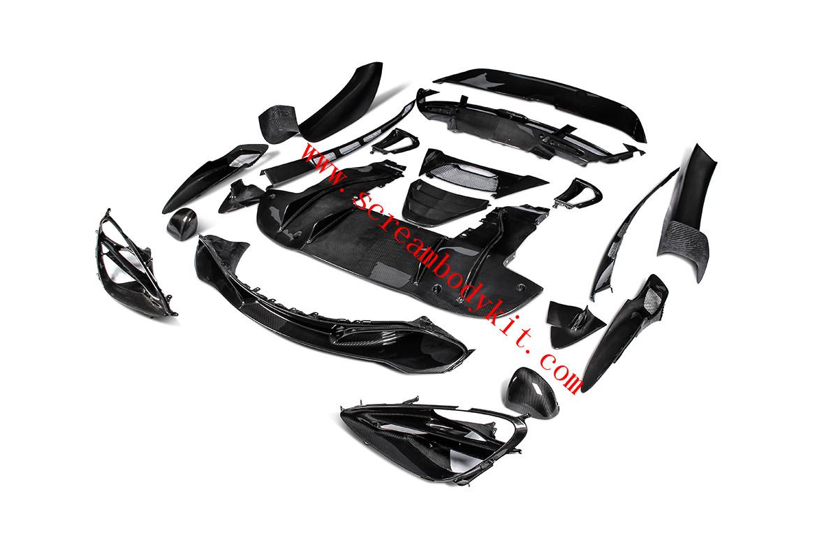 Mclaren 720 headlight bracket dry carbon fiber