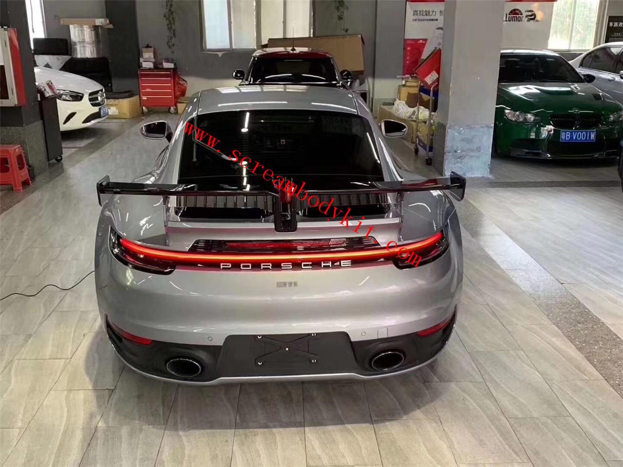 Porsche 911 992 carrear/carrear s Techart spoiler(FRP or carbon fiber)