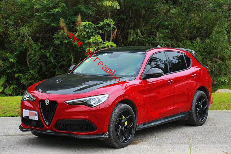 Alfa Romeo Stelvio kit front lip after lip side skirts spoiler hood (basic version)