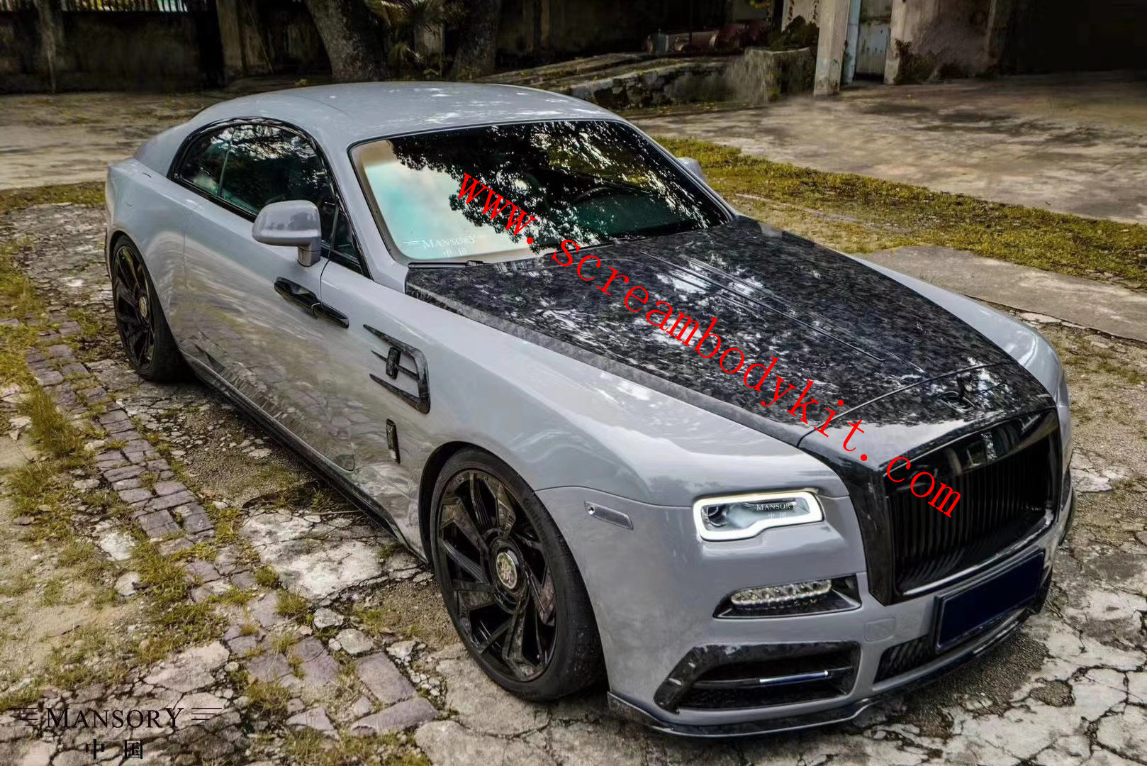 Rolls-Royce Wraith body kit mansory front bumper rear bumper side skirts