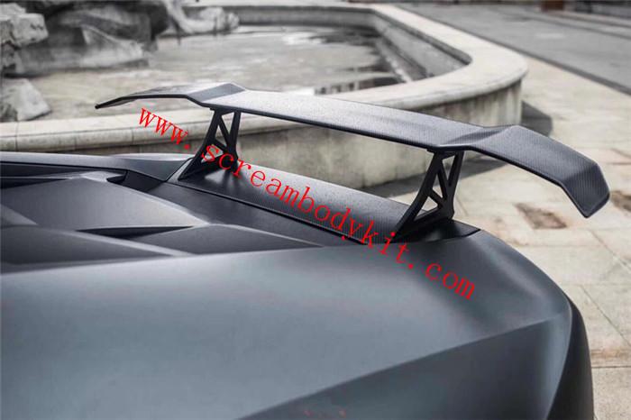 Lamborghini huracan 610 580 1016 dry carbon fiber spoiler