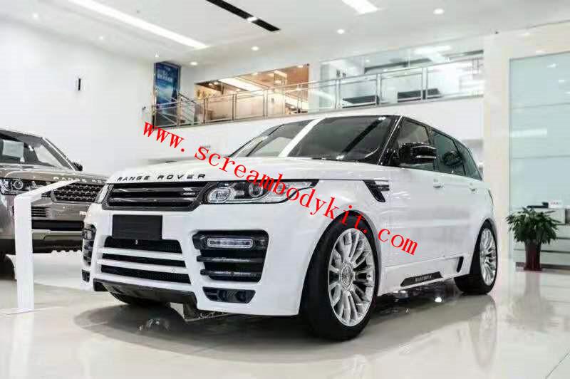 14-16 Land Rover sport wide body kit  front bumper rear bumper side skirts wide fenders