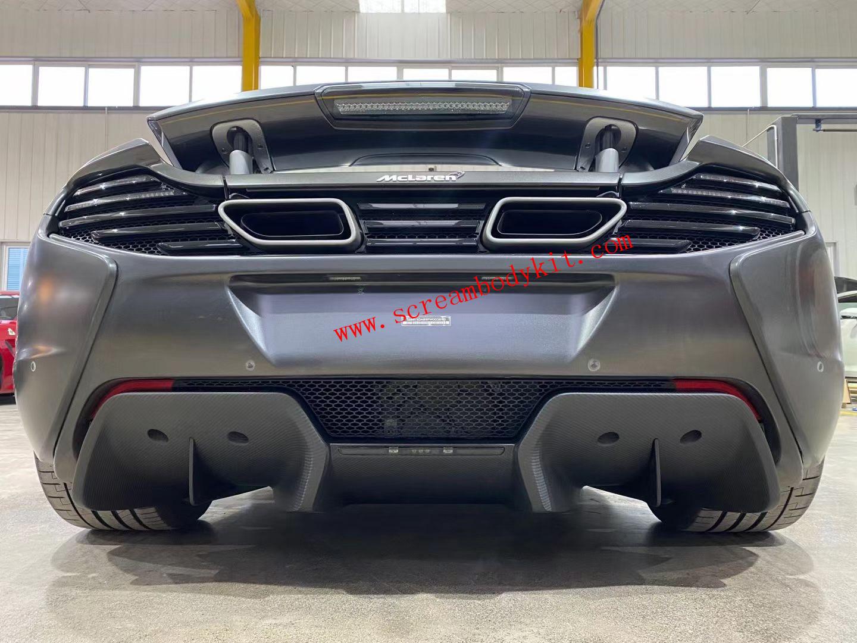 Mclaren mp4-12 650s dry carbon fiber rear bumper rear lip