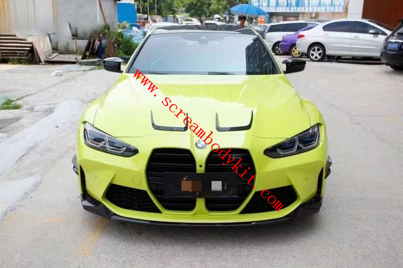 BMW M3 M4 front lip rear lip side skirts spoile dry carbon fiber G80 G82