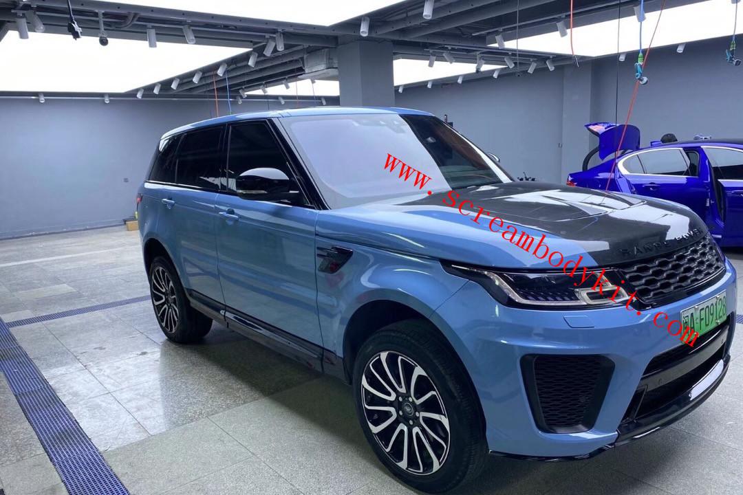 LandRover Range Rover sport SVR body kit carbon fiber hood