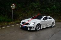 Benz W218 CLS300 CLS350 CLS63 wide body kit front bumper after bumper side skirts fenders hood