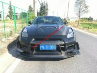 GTR r35 wide body kit front bumper after bumper side skirts hood spoiler fenders