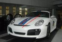Porsche Cayman 987 boxster body kit front bumper after bumper side skirts wing rear spoiler