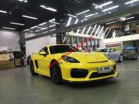 Porsche 718 Cayman boxster body kit front lip after lip hood side skirts Carbon Fiber