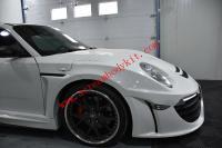 04-12 Porsche 911 997 wide body kit front bumper after bumper fenders spoiler