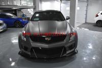 Cadillac ATSL wide body kit carbon fiber front lip after lip side skirts wing wheels borw