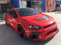 Volkswagen Scirocco R wide body kit ASPEC front bumper after bumper wing side skirts hood