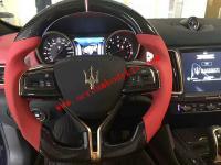 Maserati ghibli GranTurismo Quattroporte Levante carbon fiber Steering wheel or LED light Steering wheel