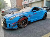 Nissan GTR R35 wide body kit LB TYPE.2  front bumper after bumper wing spoiler hood fenders