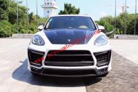 Porsche cayenne 958.1 update LUMMA wide body kit front bumper after bumper side skirts hood wing