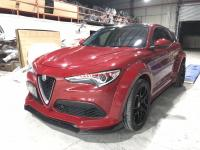 Alfa Romeo Stelvio wide body kit front lip after lip fenders spoiler hood