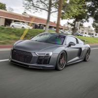16-18 Audi R8 update vorsteiner carbon fiber front lip rear lip spoiler