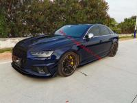 Audi S4 dry carbon fiber front lip rear lip side skirts spoiler