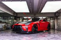 GTR R35 Varis wide body kit front bumper rear bumper fenders side skirts hood spoiler