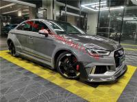 Audi RS3 wide body kit carbon fiber front lip rear lip fenders side skirts spoiler