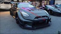 GTR R35 LB performance V3 wide body kit front bumper rear bumper fenders hood spoiler