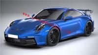Porsche 992 GT3 body kit carrera s front bumper rear bumper side skirts spoiler hood dry carbon fiber