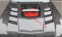 18-20 Mustang carbon fiber hood (Transparent)