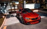 BMW F87 M2 235M wide body kit front bumper rear bumper side skirts wide fenders hood spoiler